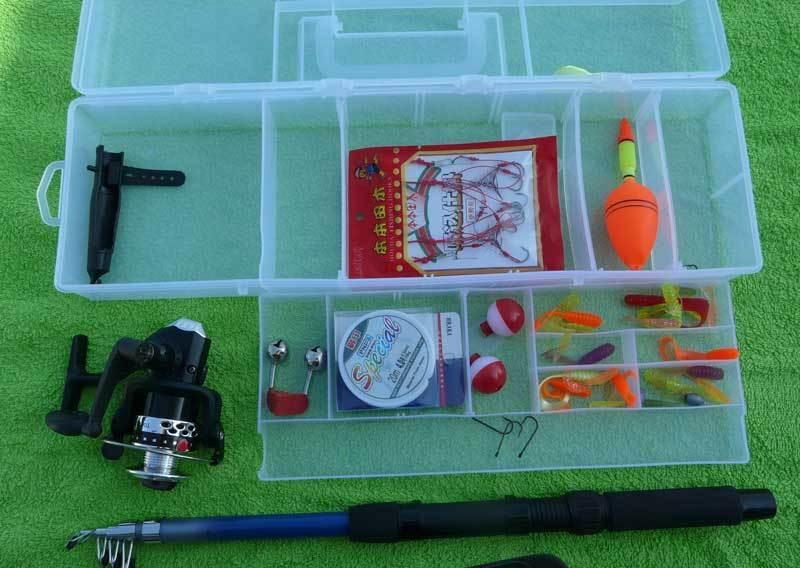 Fishing set for kids rod reel bag box kids set ebay for Fishing rods for kids